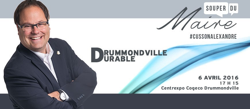 Souper du maire 2016 drummondville durable ville de for Chambre de commerce drummondville