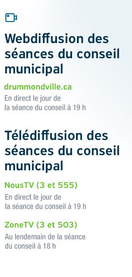 Télédiffusion et webdiffusion des séances du conseil municipal